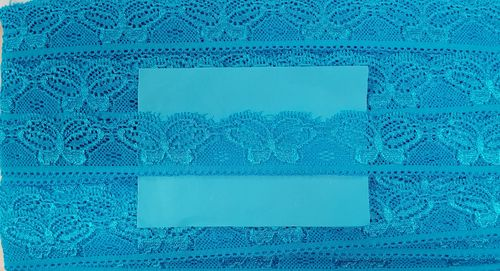 Elastic lace small 35 Blue Turqiose