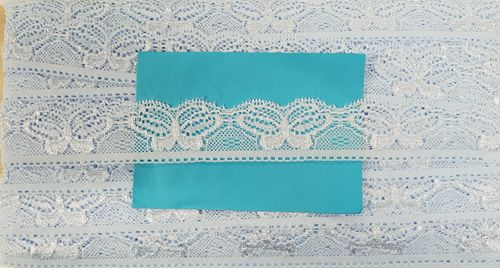 Elastic lace small 34 Baby Blue