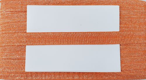 elastic fold lurex wide 9 Orange