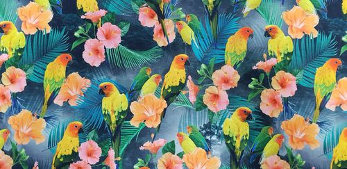 Digitale print 314 Parrots in Jungle