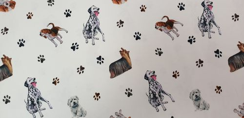 Digitale print Dogs 343