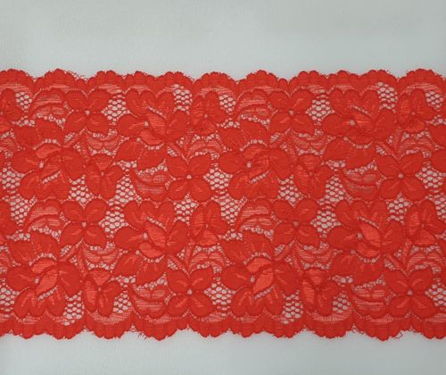 Knitted lace 118 Blood red