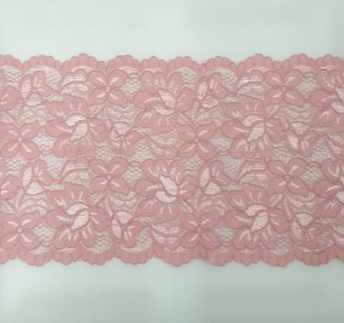 Knitted lace 122 Dark old pink