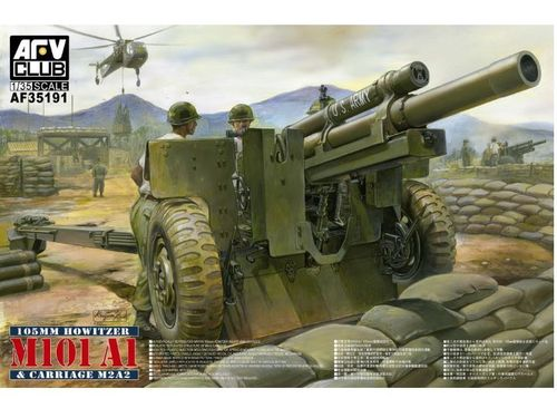 105mm Howitzer M101A1 + Carriage M2A2 1/35