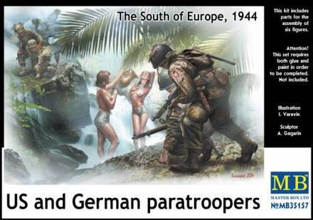 USA and German Paratroopers 1/35