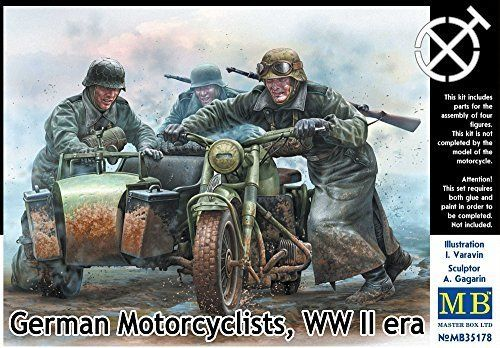 German Motorcyclist, WWII Era 1/35