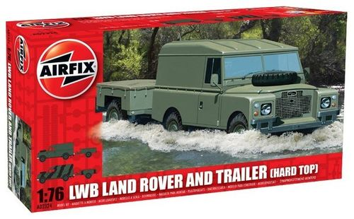 LWB Land Rover and Trailer (hard top) 1/76