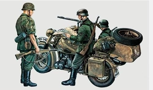 BMW R75 With Sidecar 1/35
